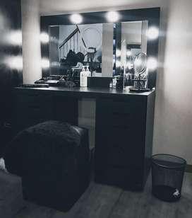 Black matte Vanity Mirror