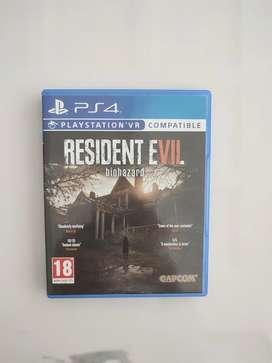 Resident Evil 7 VII RE Biohazard PS4 BD game second bekas