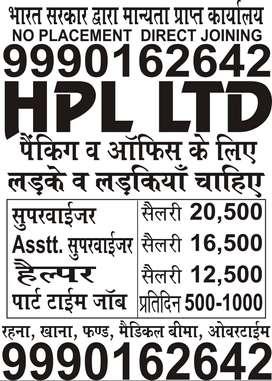 HPL PVT LTD JOBS OPENING FOR GIRL/ BOYS