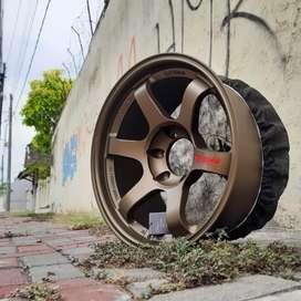 Velg rays te37 R18x9.0 h6x139.7 et0 untuk mobil Pajero Fortuner Strada