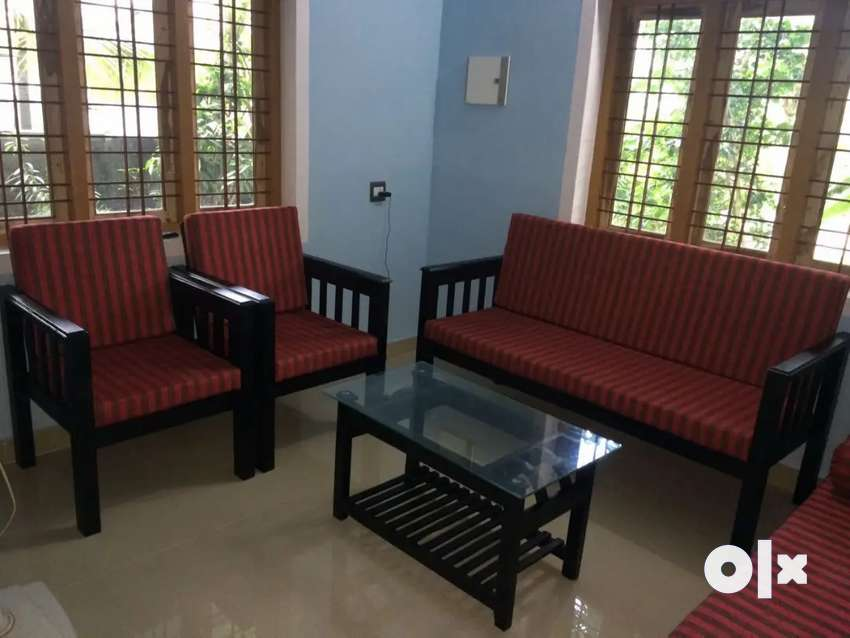 5 seater wooden sofa 0