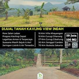 Jual tanah kavling di Bogor Timur, pemandangan Indah cocok untuk Villa