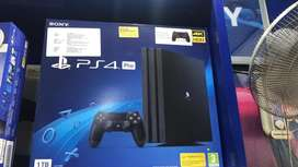 ps4 pro with 2 controllers with bill one yr warranty EASY EMI AVAILABL