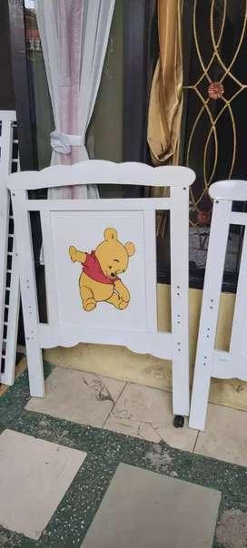 Box ranjang kayu baby