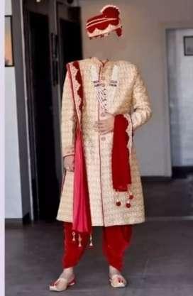 Manywar Wedding Shervani Set for Groom