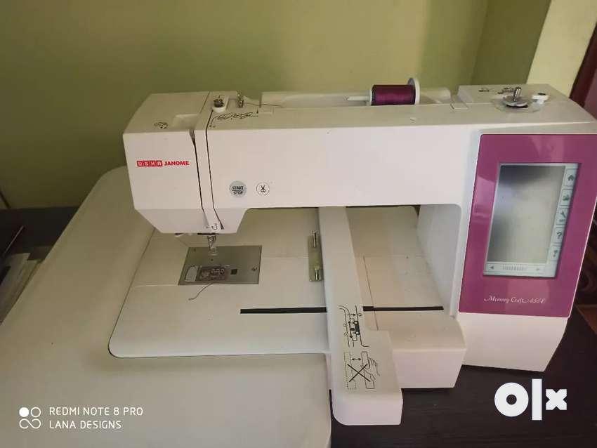 Usha Janome 450E computerized Embroidery machine