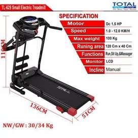 jual toko treadmill elektrik 3fungsi TL 629 electrik yogyakarta sleman