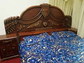 Wooden Bed set, dressing table and 5 seater Sofa set
