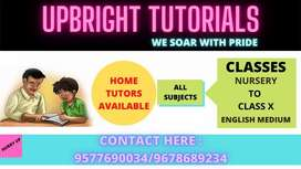 Upbright Tutorials offers best Home tutors in your city
