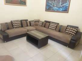 Sofa 1 Set Meja Modern Minimalis Murah Bekas