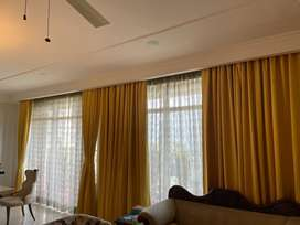 9 ft long curtain with sheer curtsins