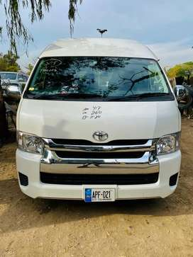 Latest model Luxury Grand Cabin Hiace 13 seater Available for Rent