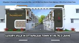 Kulappully , Pay Rs 2776/sqft- 5.20 Cent duplex New House for Sale