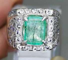 Batu Permata Green Zamrud Emerald Colombia Bersertifikat