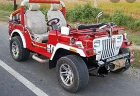 Red with white combination jeep