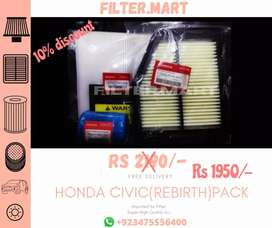 Honda Civic Rebirth Air oil and Ac filter complete pack