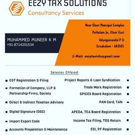 GST registration, Income Tax Filing & Business Consultancy Services