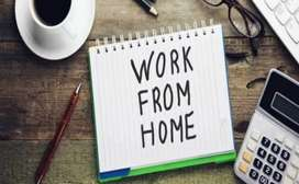 Work from home by using android phone and internet connection