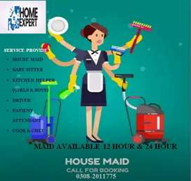 Maid available 12hr to 24hrI