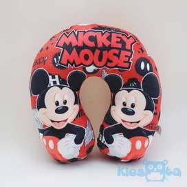 Bantal leher mickey mouse new