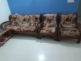 Very good condition wooden sofa