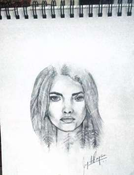 Drawing of lady