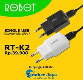 Charger Murah ROBOT RT-K2 Single USB (Original Robot)