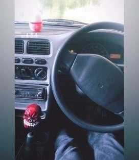 Red skull gear knob