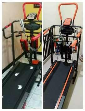 Importir treadmill manual 6-fungsi lengkap massager