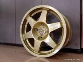 Velg mobil racing murah ring 15x7.0 h4x100 et35 cocok untuk Brio Agya