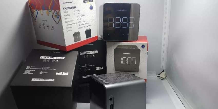 Simbadda alarm bluetooth speaker jam digital fitur lengkap Solo
