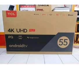 LED TV TCL 55 inch -android tv -4 k -Garansi resmi
