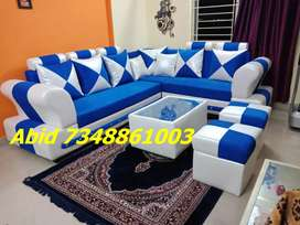 MJ55 corner sofa set branded color design 3 years warranty