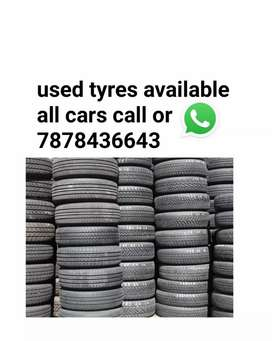 Usedtyres available of all cars
