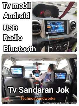 Mobil TV sandaran Jok + Tv mobil 7 in Android USB Bluetooth / velg