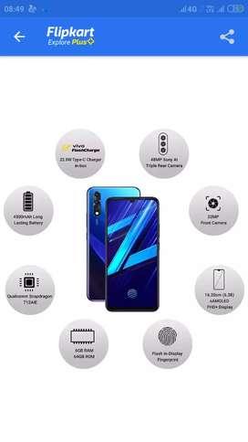 Vivo z1x 6gb ram 64 gb internal new seal pake blue