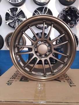 Velg RE30 Bronze R15X7 H8 100-114.3 buat mobil Brio dan Avanza