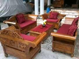 kursi tamu model sekarang kayu jati 0018
