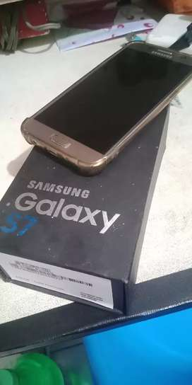 Samsung S7 Flat single Sim 4/32 Normal Lecet Pemakaian