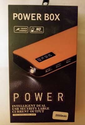 Powerbank With 3 LED Display and 3 Charging Ports.