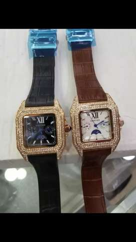 Cartier watch new model full diamonds with 4 color