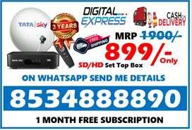 Tata sky offers New HD box Full installation tatasky airtel tv dth COD