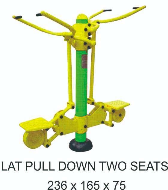 Alat Fitnes Outdoor Lat Pull Down Two Seat Murah Garansi 1 Tahun 0