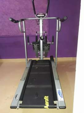 Aerofit multifunctional manual tread mill with display for sale