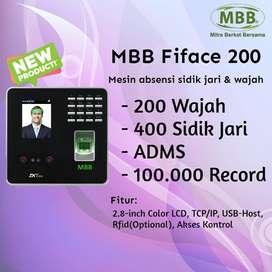 Mesin Absensi Wajah Dan Sidik Jari Murah MBB Fiface 200