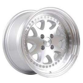 HSR-Bavaria-JD9016-Ring-16x8-9-H4x100-ET30-25-Silver-Machine-Face-Lip-