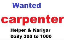 C10-wanted carpainters  daily 300 to 800 rs