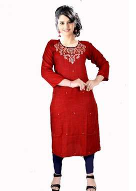 Designer Kurtis With Multi-color Embroidery | Wholesalers & Retailers