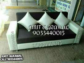 White and black color combination sofa set