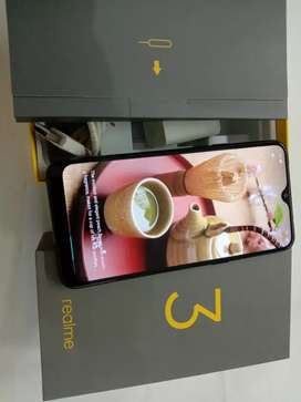 Only 3 months phone realme 3 original charger box bill available